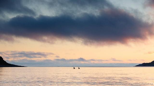 På vei inn Tåfjorden. Foto: Espen Bergersen