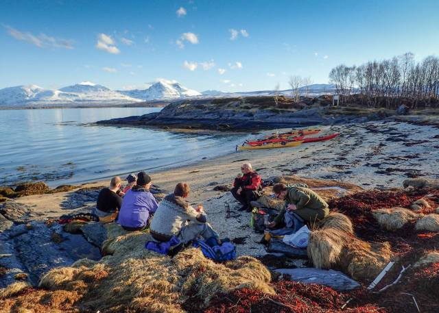 Rast på sørstranda på Grindøya. Foto: Are Kvistad